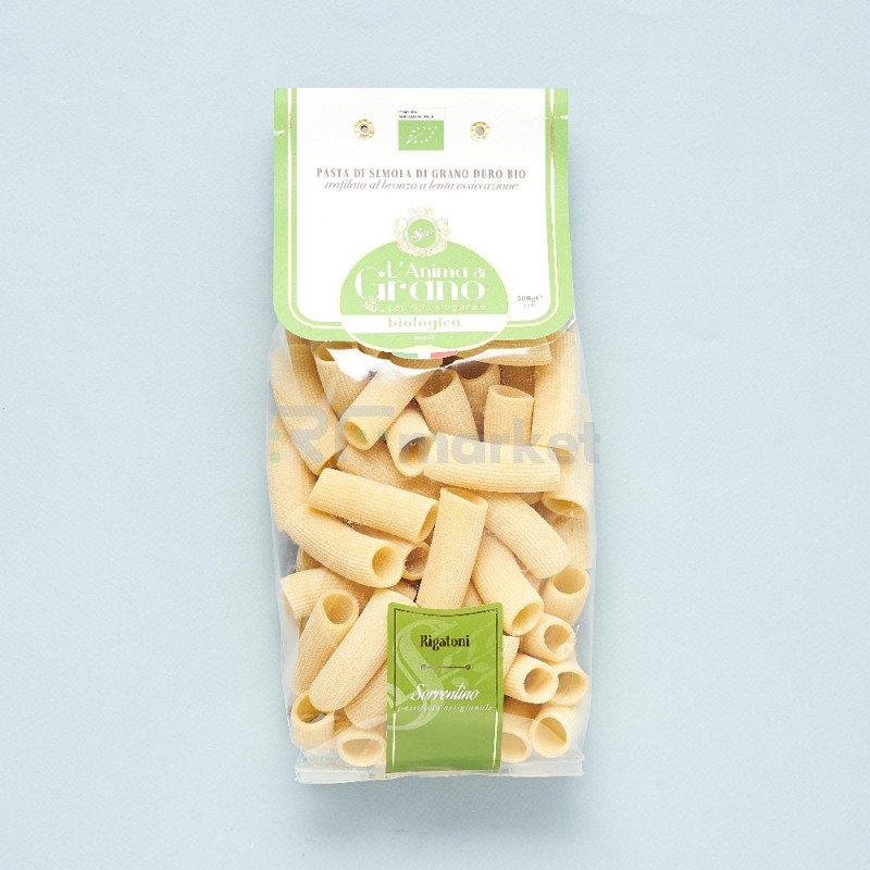 """Паста из твердых сортов пшеницы  """"L`Anima di Grano BIO"""" Rigatoni (500 гр)"""