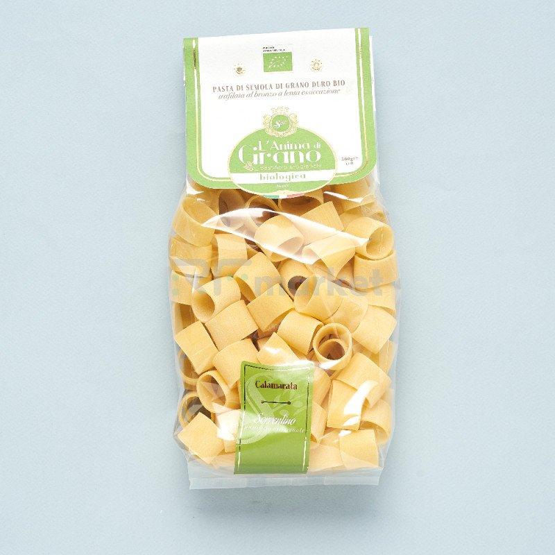 """Паста из твердых сортов пшеницы """" L`Anima di Grano  BIO"""" Calamarata (500 гр)"""
