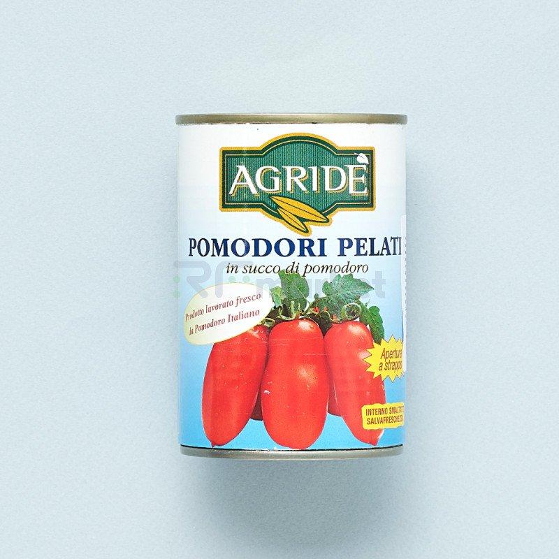 """Томаты целые очищенные в собственном соку  San Marzano """"Agride"""" (400 гр)"""