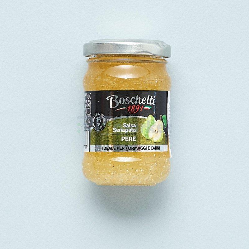 """Фруктовая горчица из Груши""""Boschetti""""соус для сыра и мяса (180 гр)"""