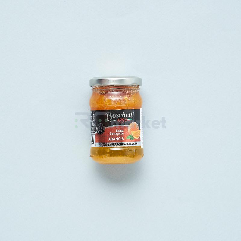 """Фруктовая горчица из Красного апельсина """"Boschetti""""соус для сыра и мяса (180 гр)"""