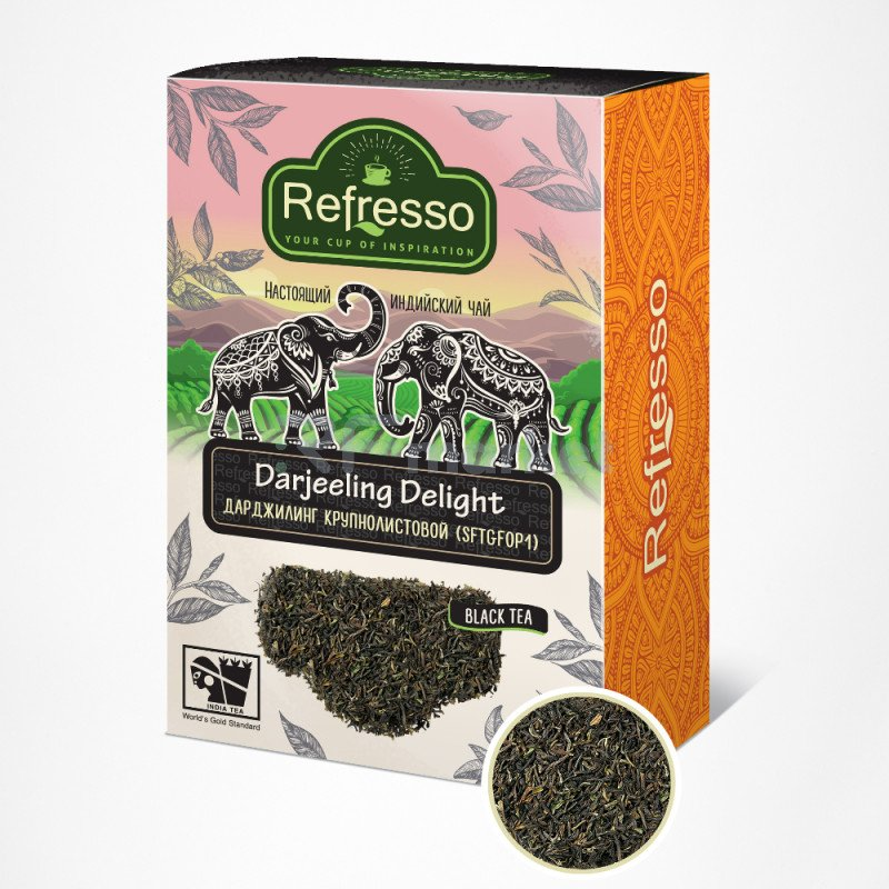 Чай Дарджилинг листовой, 250 гр., Рефрессо/Refresso