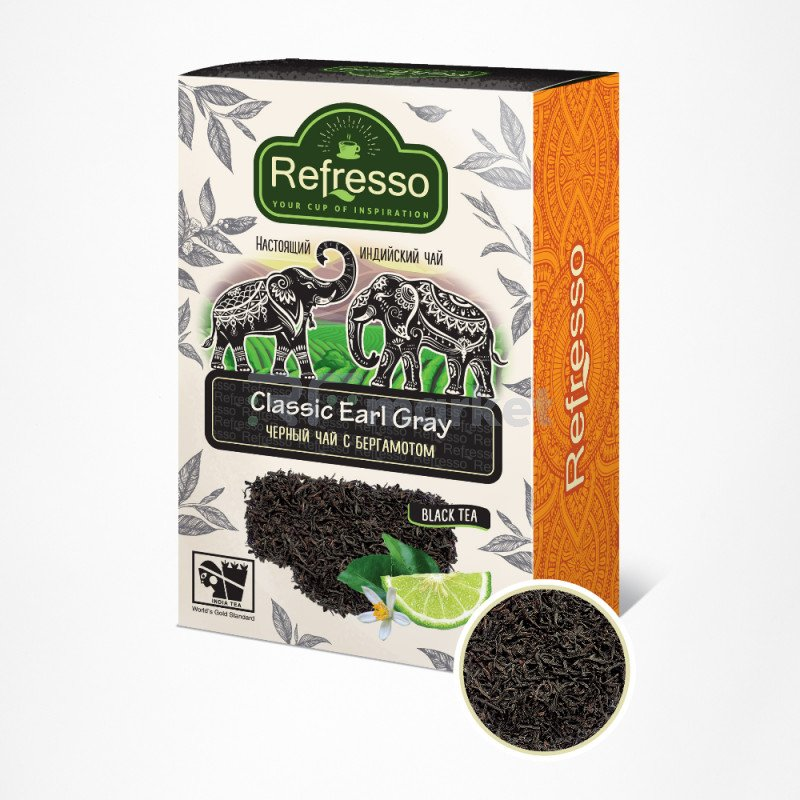 Чай Эрл Грей Ассам черный чай с бергамотом, 100 гр., Рефрессо/Refresso