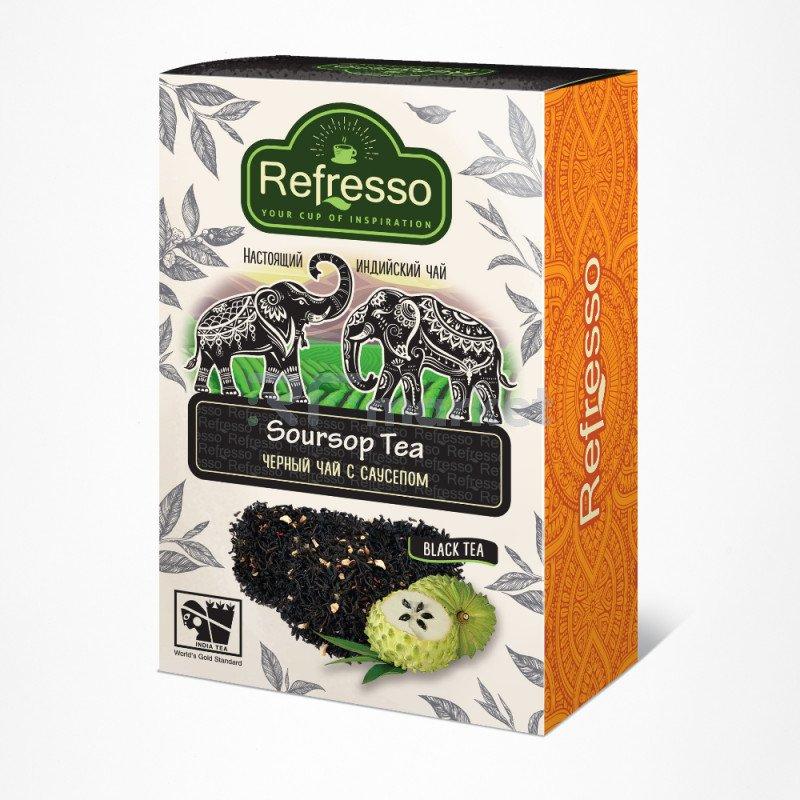 Чай Ассам черный с саусепом, 100 гр., Рефрессо/Refresso