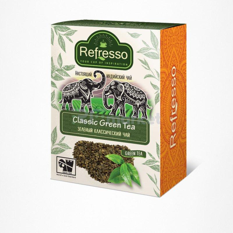 Чай зеленый классический, 100 гр., Рефрессо/Refresso