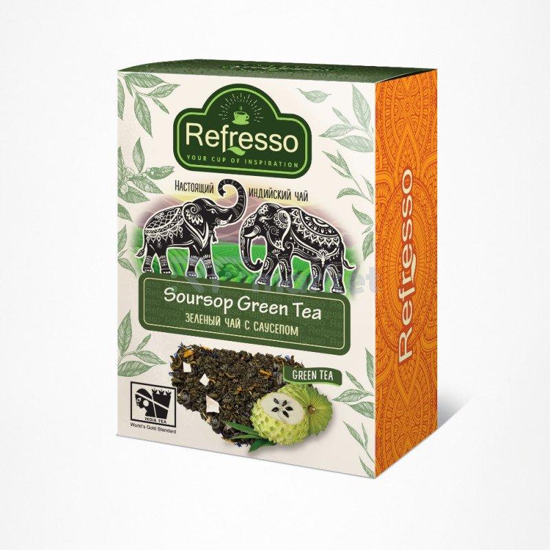 Чай зеленый чай с саусепом 100 гр., Рефрессо/Refresso