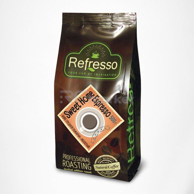 Свит Хоум Эспрессо молотый, 500 гр., Рефрессо/Refresso