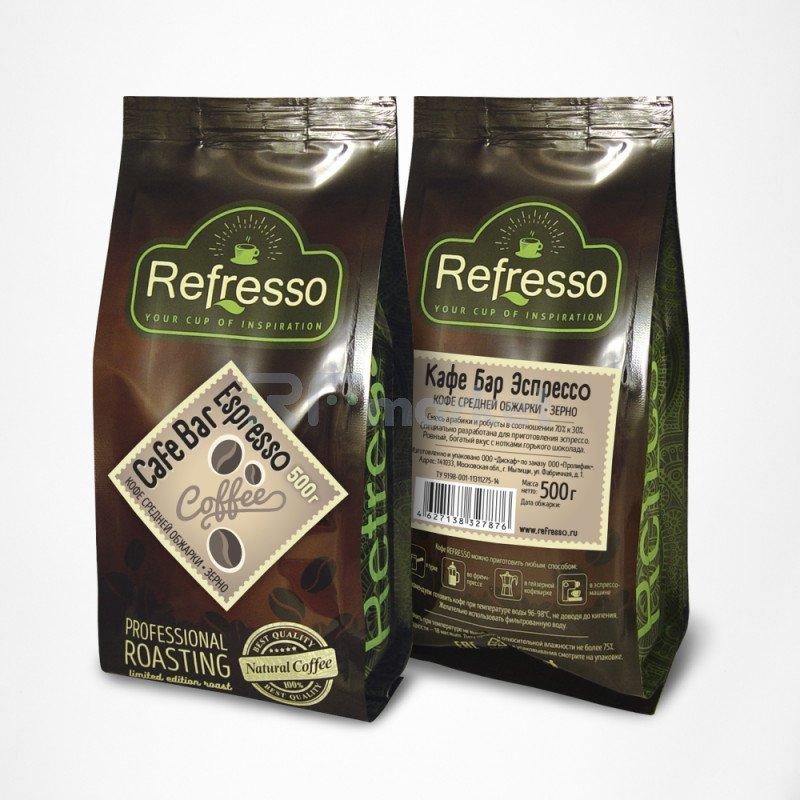 Кафе Бар Эспрессо зерно, 500 гр., Рефрессо/Refresso