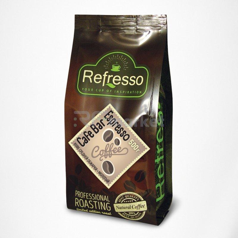 Кафе Бар Эспрессо молотый, 500 гр., Рефрессо/Refresso