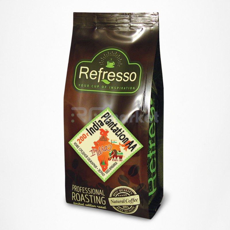 Индия Плантейшн АА кофе моносорта зерно, 200 гр., Рефрессо/Refresso
