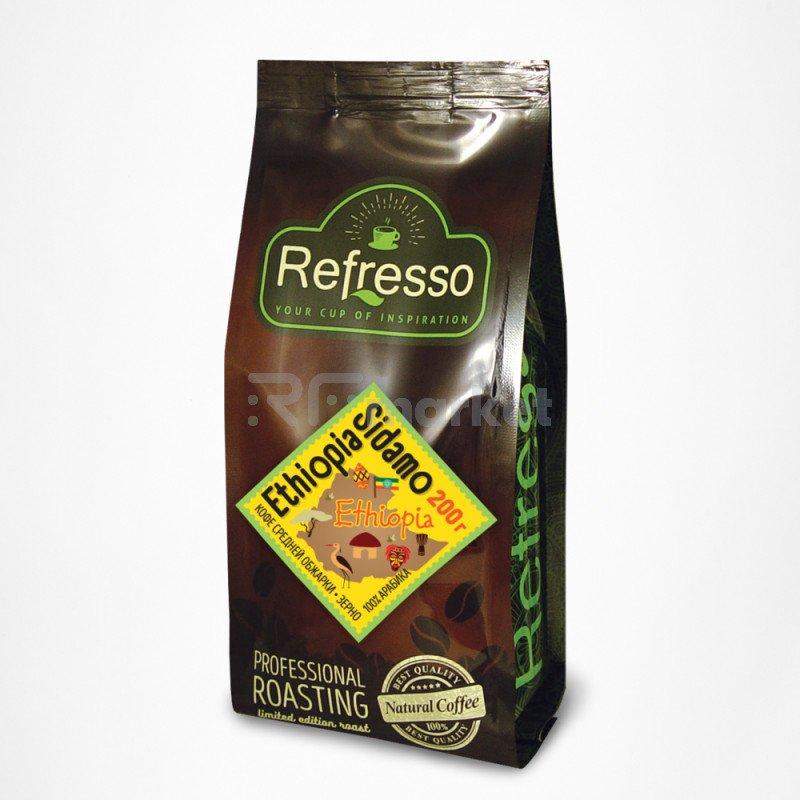 Эфиопия Сидамо кофе моносорта зерно, 200 гр., Рефрессо/Refresso
