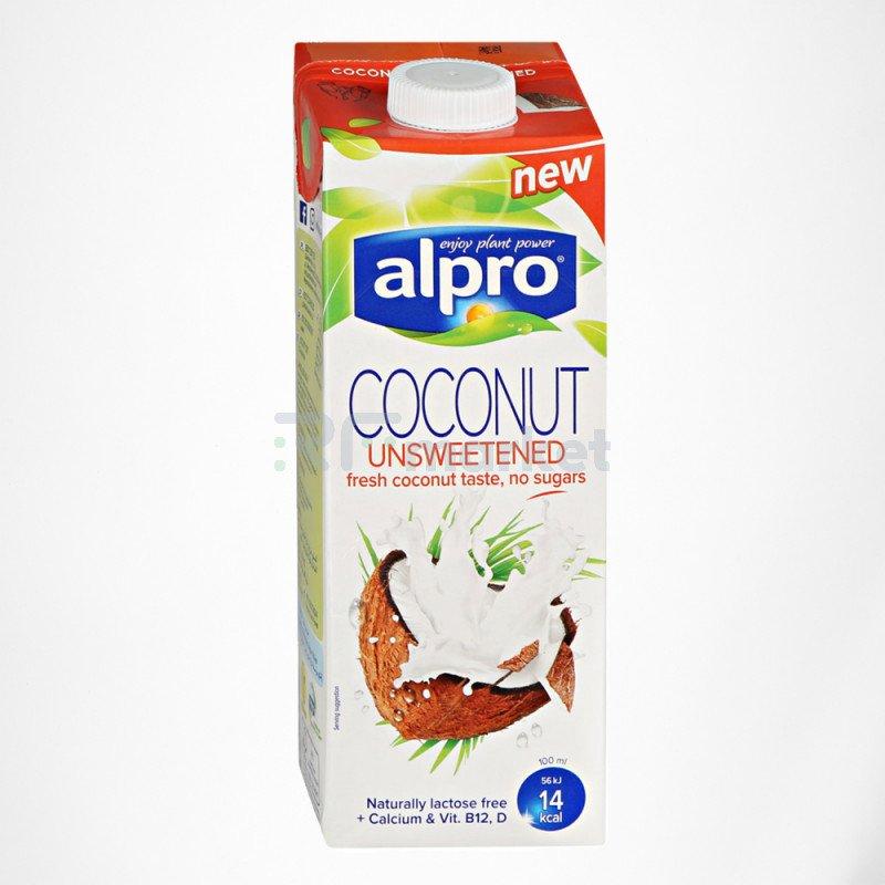 Напиток кокосовый без сахара обогащенный кальцием и витаминами 1 л., Алпро/ALPRO