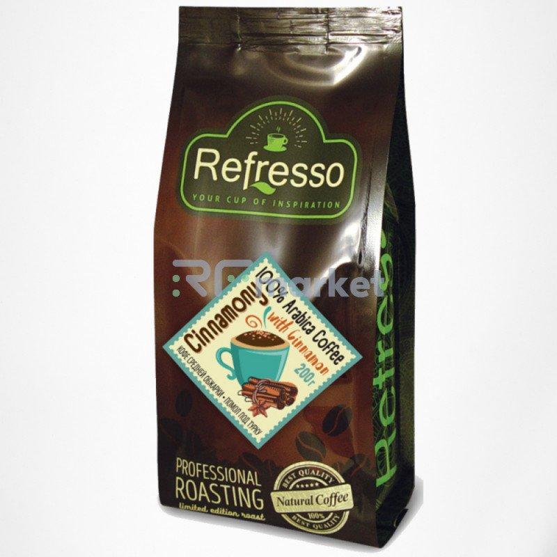 Синамони кофе с корицей молотый под турку, 200 гр., Рефрессо/Refresso