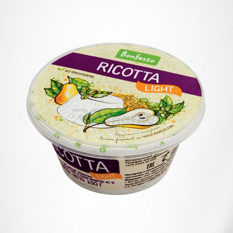 Рикотта 250 гр. Bonfesto 40% мягкий сыр