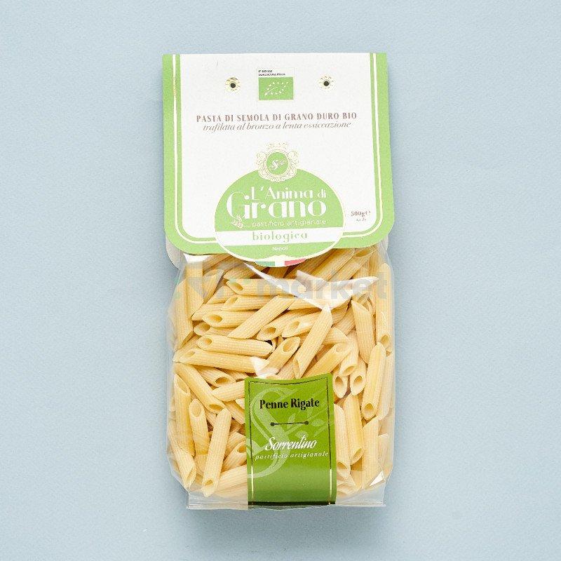 """Паста из твердых сортов пшеницы  """"L`Anima di Grano BIO"""" Penne Rigate (500 гр)"""