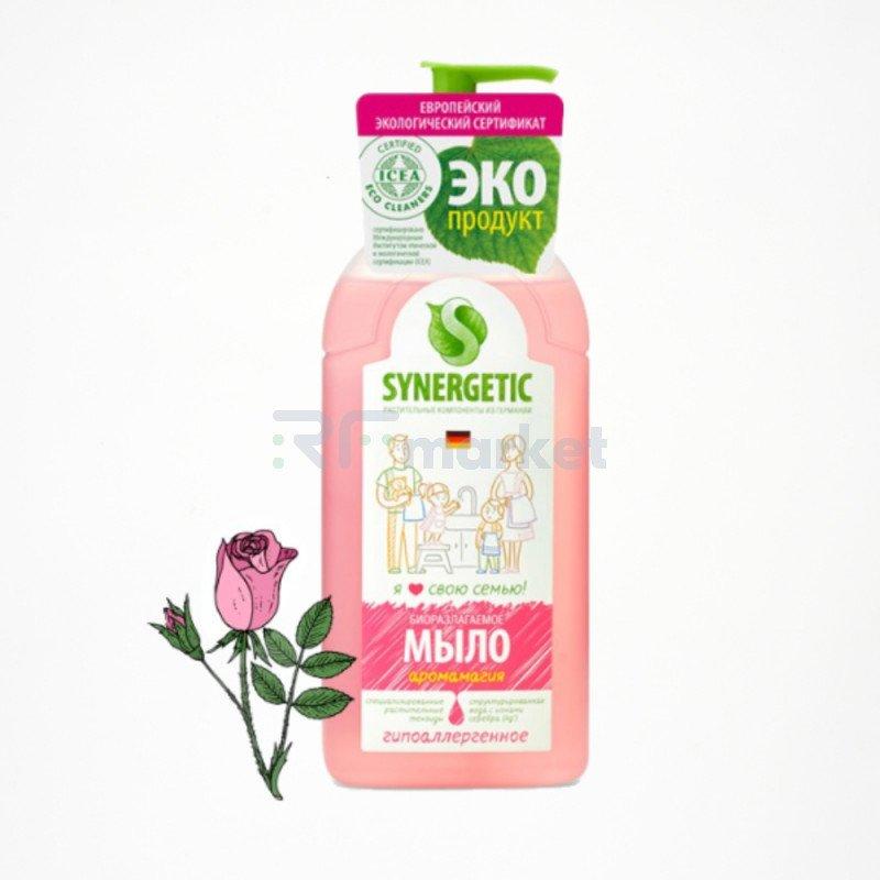 """Жидкое мыло Synergetic """"Аромамагия"""", гипоаллергенное, с эффектом увлажнения, 0,5 л"""