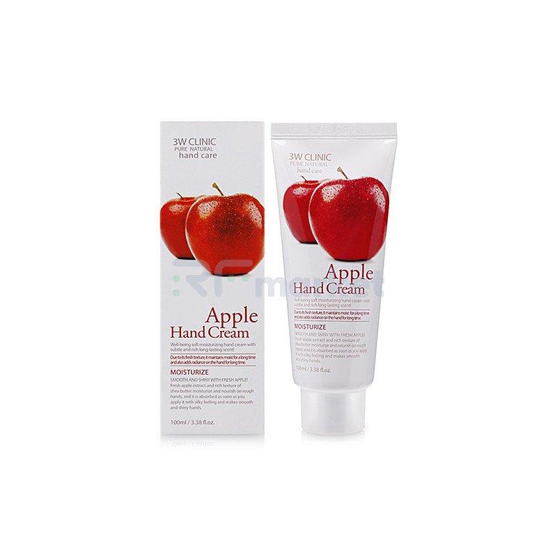 3W Clinic Крем для рук с экстрактом яблока - Apple hand cream, 100мл