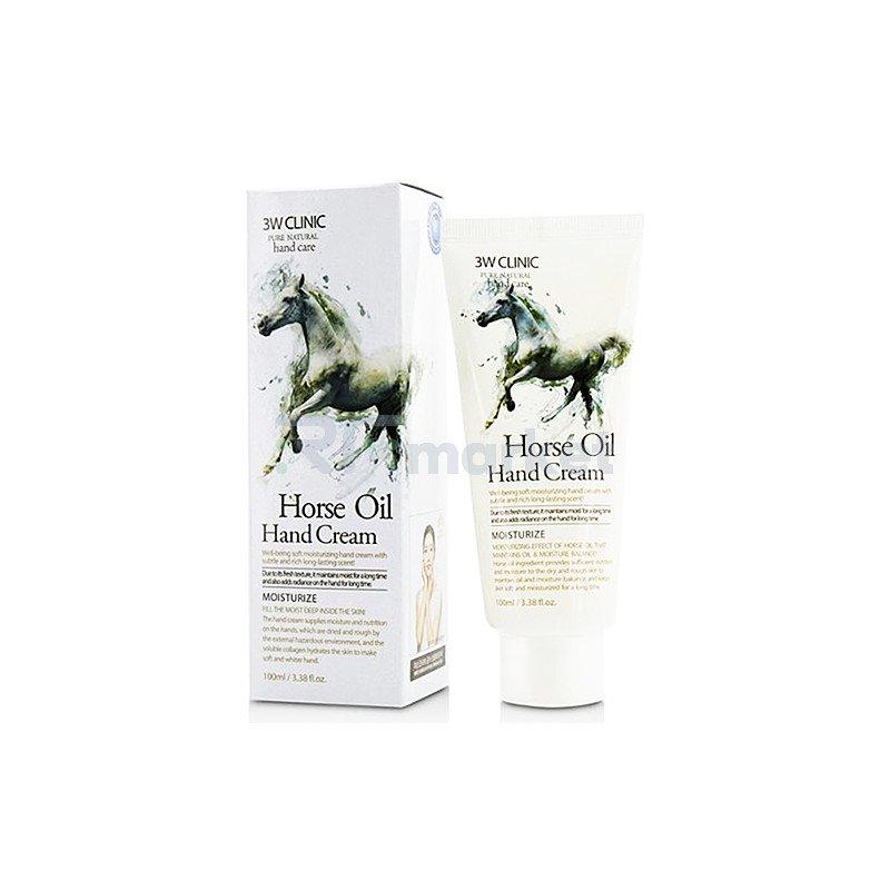 3W Clinic Крем для рук с лошадиным маслом - Moisturizing hand cream horse oil, 100мл