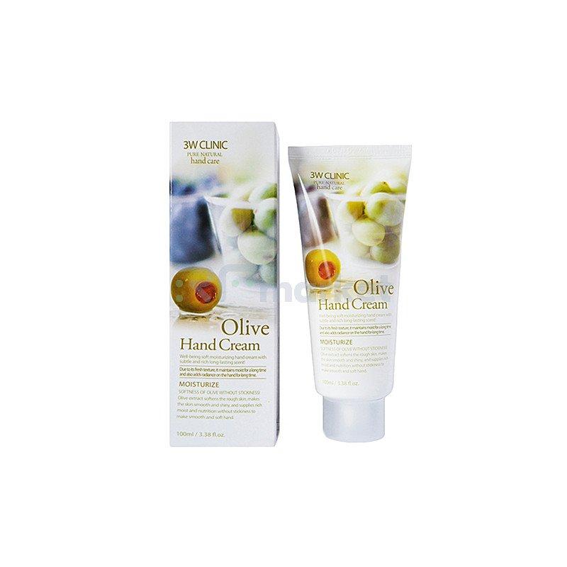 3W Clinic Крем для рук с оливковым маслом - Olive hand cream, 100мл