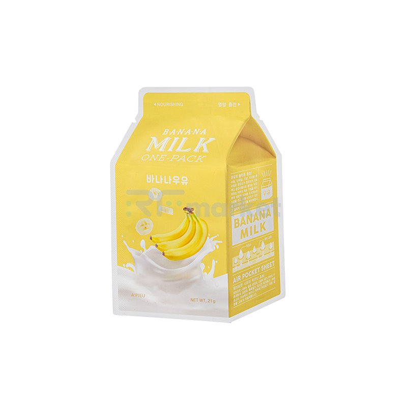 A'Pieu Маска тканевая с экстрактом банана - Banana milk one-pack, 21г