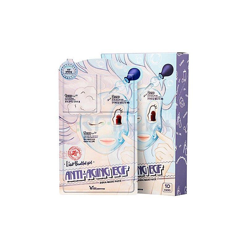 Elizavecca Маска для лица трехшаговая омолаживающая - Anti-Aging EGF aqua mask pack, 25мл