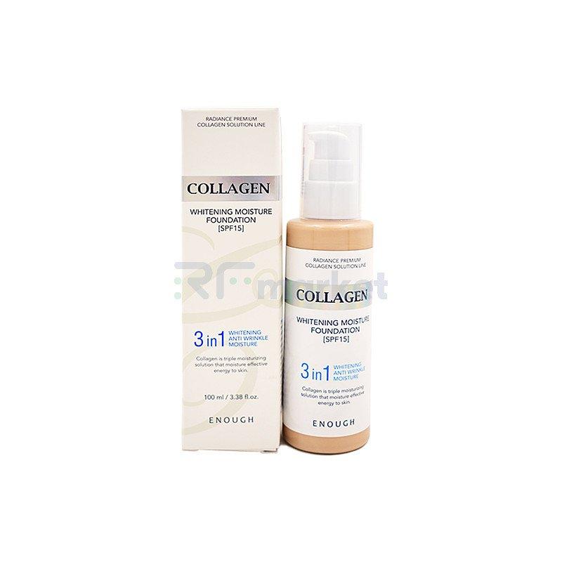 Enough Основа тональная с коллагеном 13тон - Collagen whitening foundation 3in1, 100мл