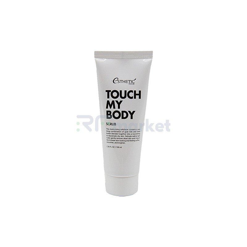 Esthetic House Скраб для тела на основе козьего молока - Touch my body goat milk body scrub, 100мл