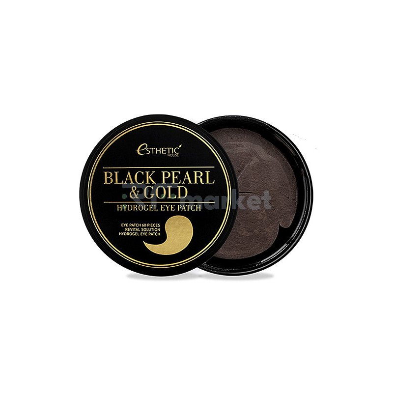 Esthetic House Патчи с черным жемчугом и золотом - Black pearl&gold hydrogel eye patch, 60шт