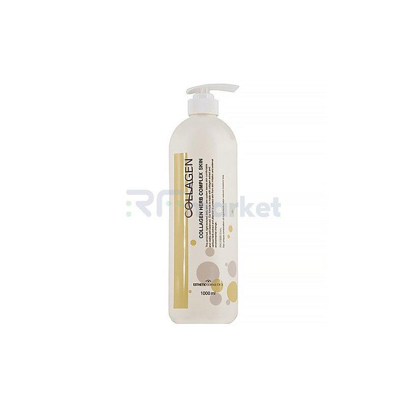 Esthetic House Тоник для лица с коллагеном и растит.экстрактами - Collagen herb complex skin, 1000мл