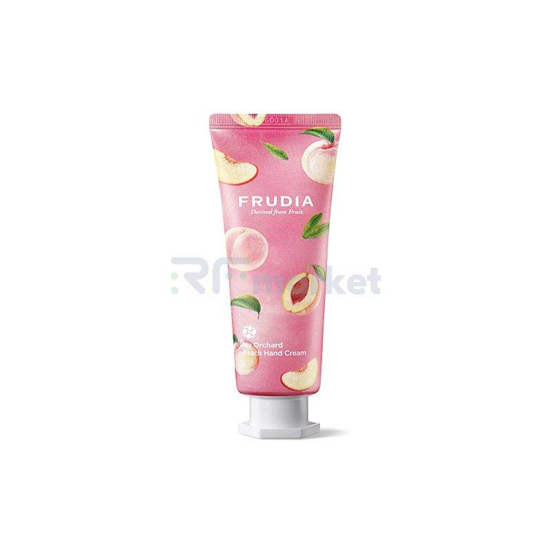 Frudia Крем для рук c персиком - Squeeze therapy peach hand cream, 80г