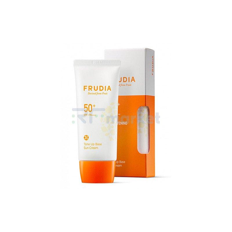 Frudia Крем-праймер солнцезащитный с жемчужной пудрой - Tone up base sun cream SPF50+ PA+++, 50мл