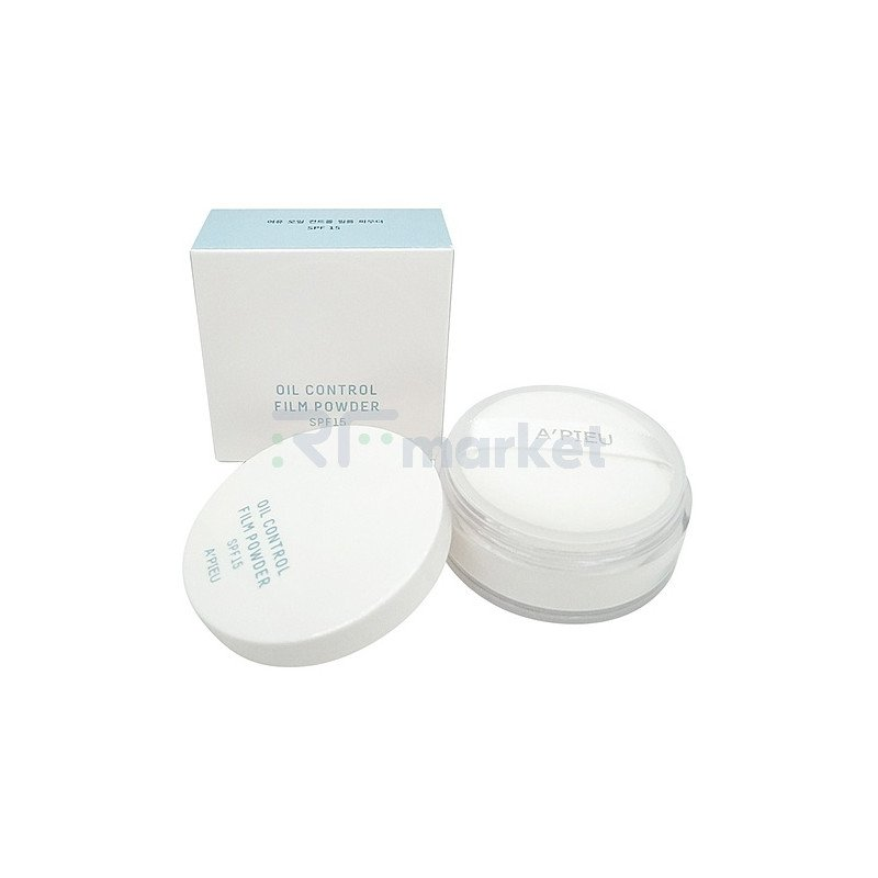 A'Pieu Пудра рассыпчатая матирующая - Oil control film powder SPF15 #White, 6г