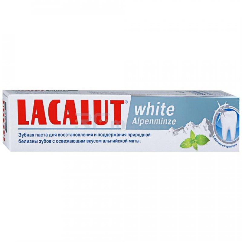 Зубная паста Lacalut White Alpenminze Альпийская мята осветление эмали 75 мл