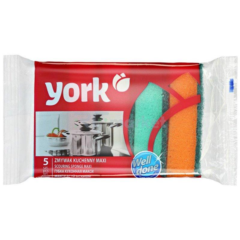 Губки для посуды York Макси, 5 шт