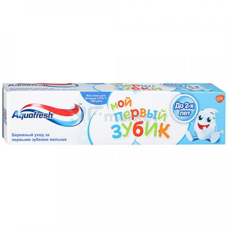Зубная паста детская Aquafresh Мой первый зубик до 2 лет 50 мл