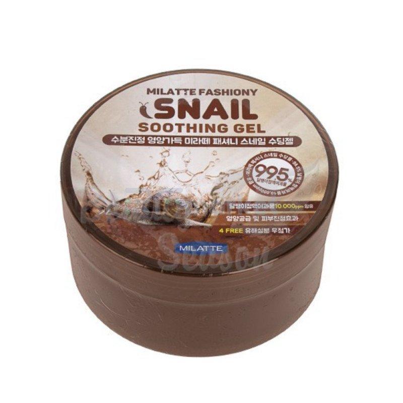 Гель универсальный увлажняющий Milatte Fashiony Snail Soothing Gel, 300мл.SUN HYANG COSMETICS CO LTD.