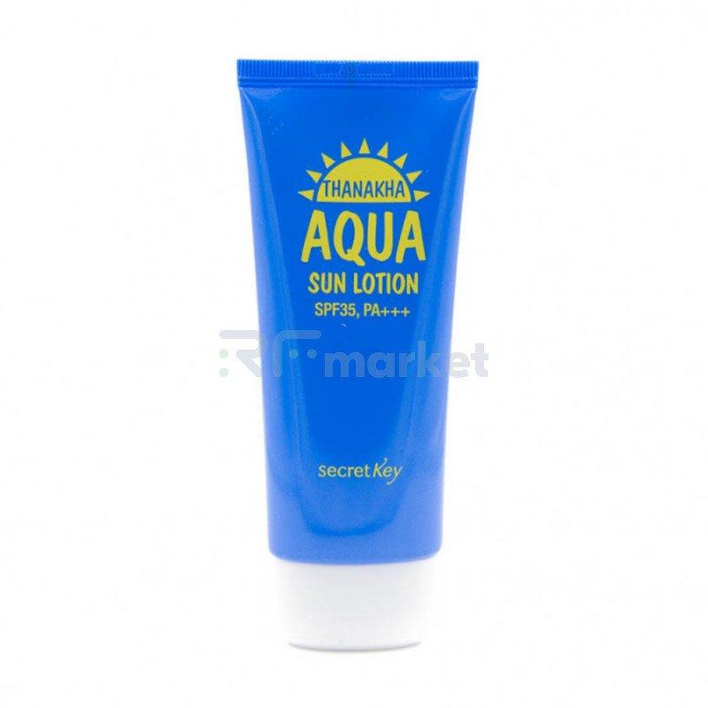Лосьон солнцезащитный увлажняющий. Thanakha Aqua Sun Lotion SPF35,PA+++ 100 гр.«ZENPIA Co. Ltd.»