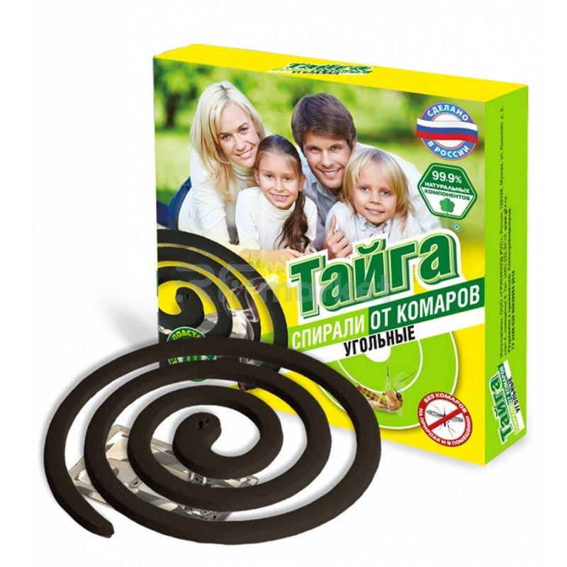 Спирали от комаров Тайга угольные 10 штук