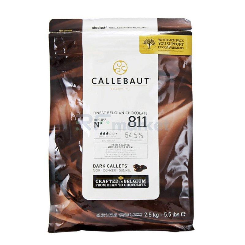 "Шоколад темный  54,5% ""Callebaut"" (Бельгия) , 2,5кг"