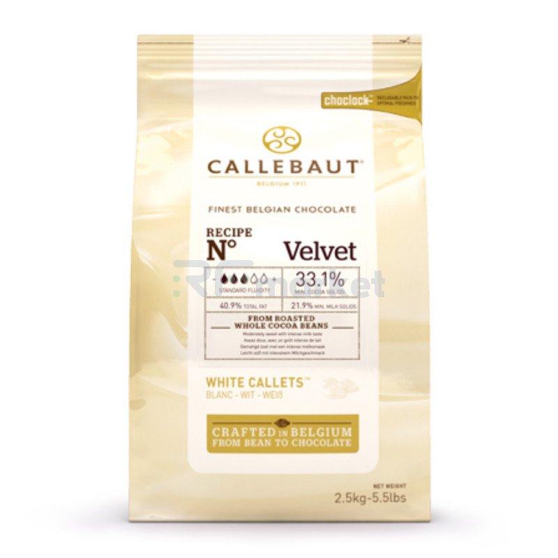 "Шоколад белый 25,9% ""Callebaut"" (Бельгия) , 2,5кг"
