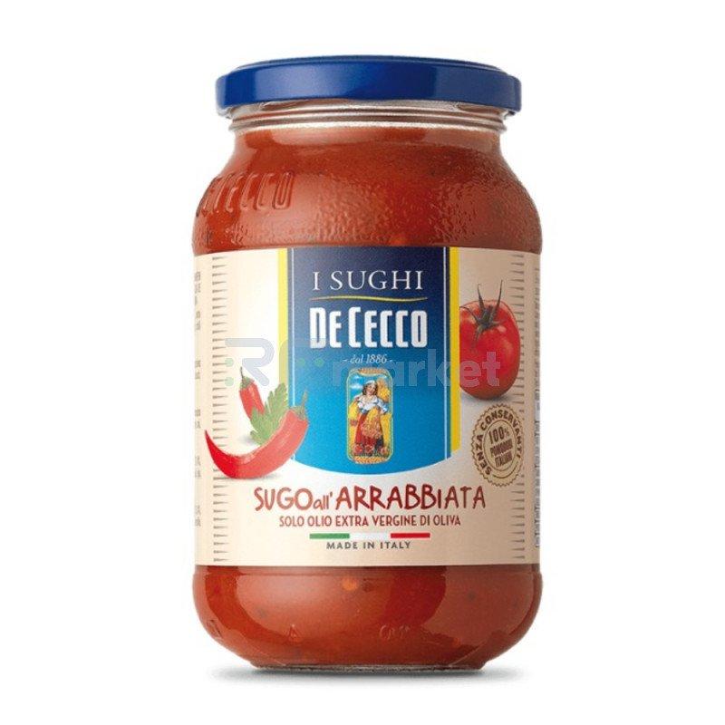 """Соус  томатный Арраббьята с острым перцем """"De Cecco"""", 400гр"""